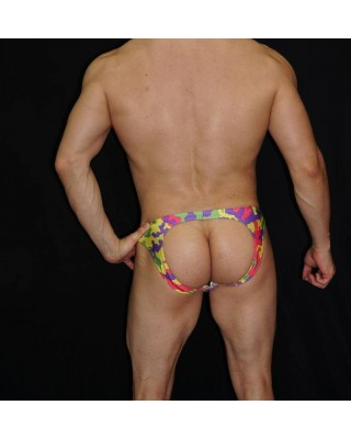 bikini hombre sin trasero mezcla de colores acuarela