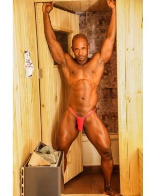 men g-string bulge thong red color