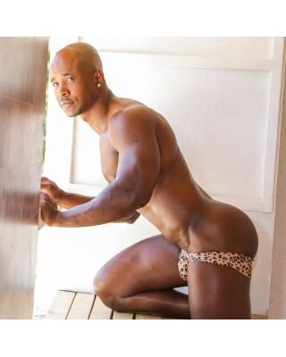 sexy men leopard boxer enhancer butt and basket