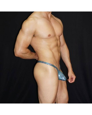 tanga bulge estampado latex verde
