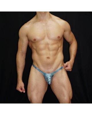 Green latex bulge thong