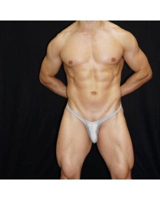 men bulge thong grey satin