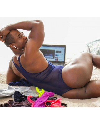 mens Erotic lingerie body  in navy color