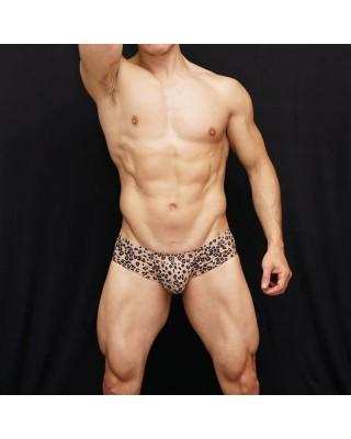 boxer hombre marcador de gluteos y paquete microfibra leopardo