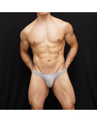 viscose elastane men bikini grey stripes texture