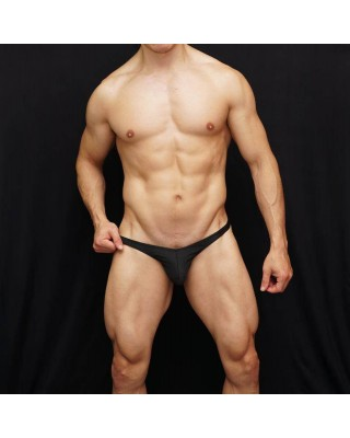 mens lingerie thong black color made in microfiber