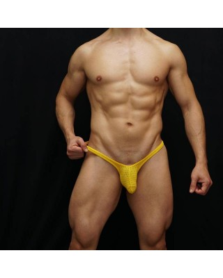 mens microfiber tiny holes thong