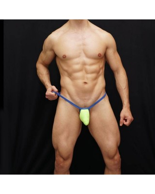 men bulge thong pistachio and blue