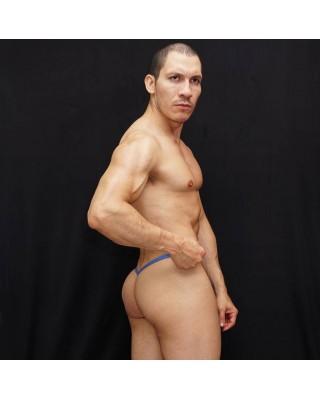 tanga hombre bulge o de paquete pistacho y elasticos azul