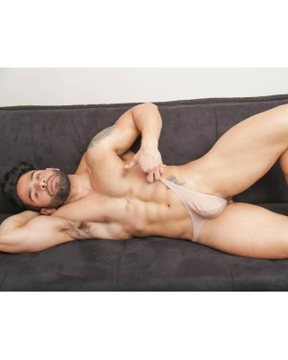lingerie men thong  beige nude color
