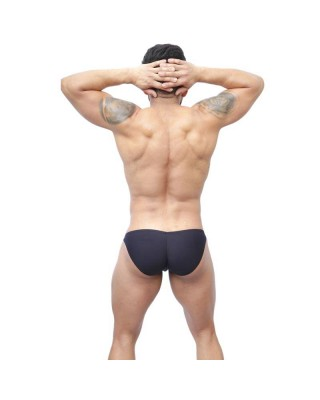 Slip bikini hombre cachetero negro marcador de chulo
