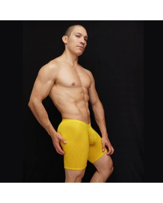 men mesh microfiber bulge tight