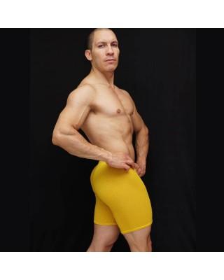 calza corta bulge hombre malla amarilla