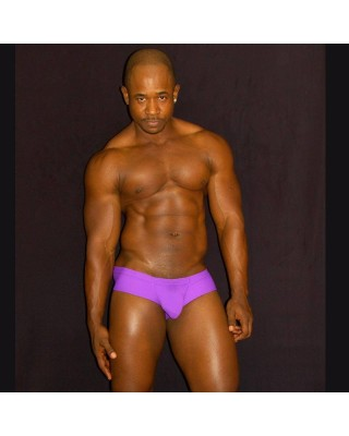 purple men boxer enhancer butt and bulge