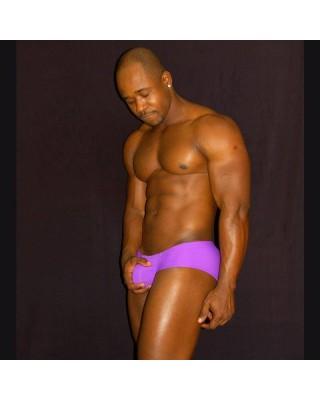 purple men boxer enhancer butt and bulge