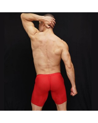Lounge tight short made in soft mesh microfiber with an amazingly comfortable bulge and butt