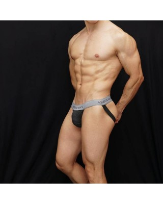Men jockstrap Arroyman branded cotton in front