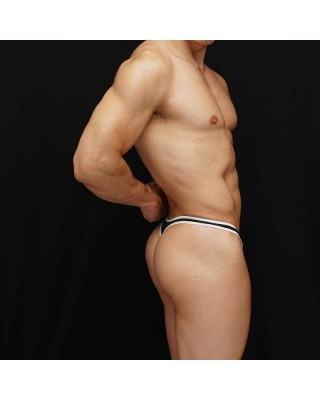 Super sexy mesh bulge front with small ribbon color around the edge.