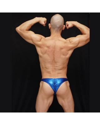 Sunga competencia fisicoculturismo hombre azul electrico