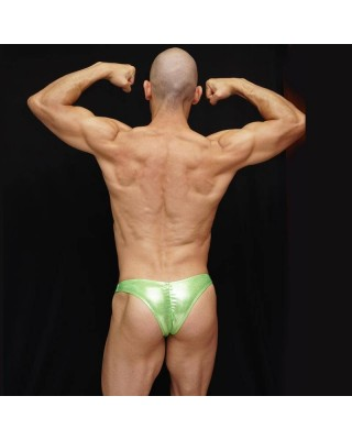Physique Bodyware men's posing suits shiny green
