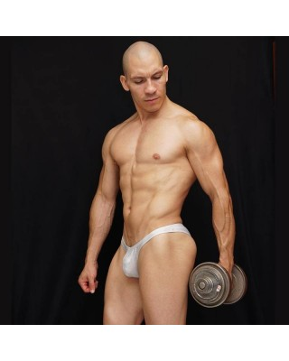 mens Bodybuilding trunk shiny sunflower