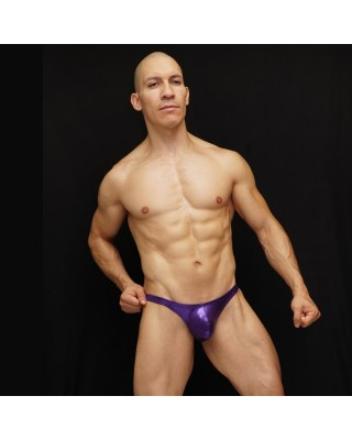 bodybuilding suit purple
