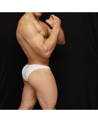 sensual men lingerie bikini made in white microfiber