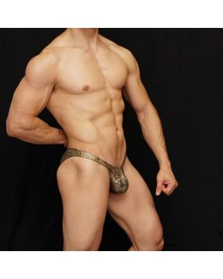 competition bodybuilding suit for men. Metallic bronze colour.