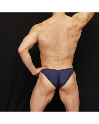 men bikini navy bicolor, enhancing butt and bulge
