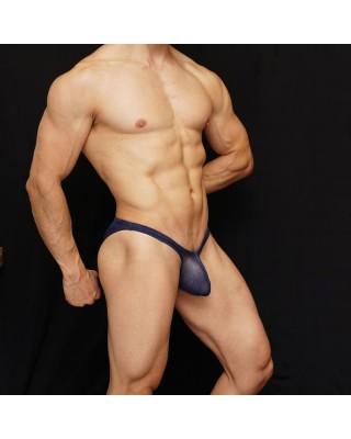 men bikini navy bicolor, enhancing butt and bulge