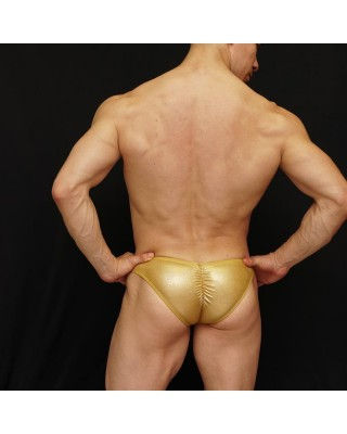bodybuilding suit glossy gold latex
