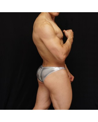 silver for men bodybuilding suit