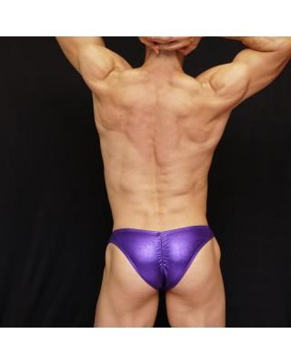 purple latex bodybuilding suit