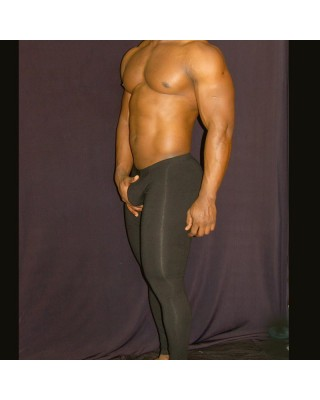 calza running algodon hombre color negro