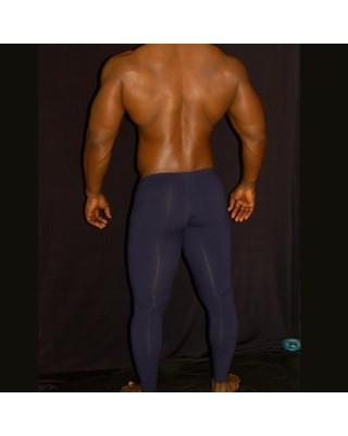 Malla running spandex azul hombre