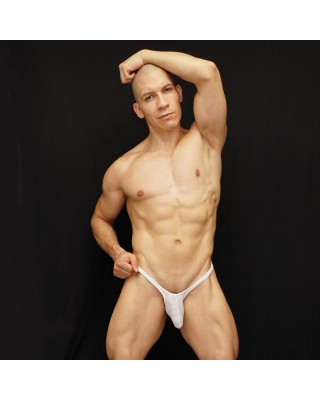 men bulge thong tiny mesh microfiber