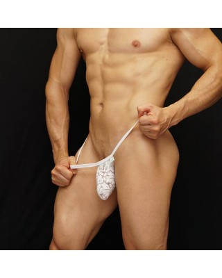 white lace bulge thong g-string
