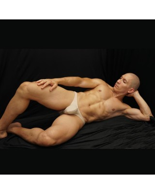 men bodybuilding bikini beige