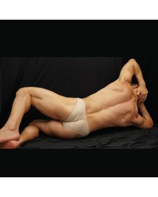 men bodybuilding bikini beige
