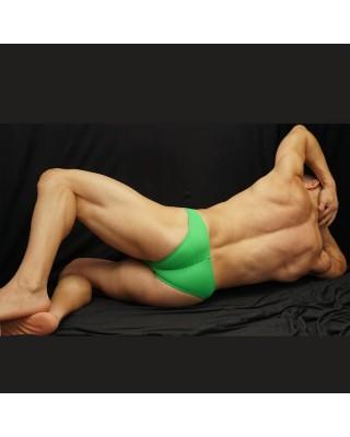 sunga de fisicoculturismo color verde
