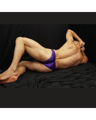 purple latex bodybuilding suit