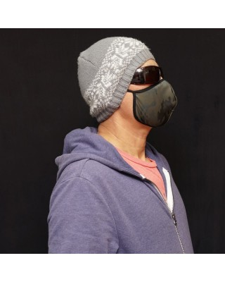 mascarilla facial microfibra interior forrado, contorno elasticado