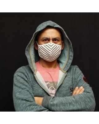 Mascarilla facial hombre reutilizable, lavable con elasticos con lycra