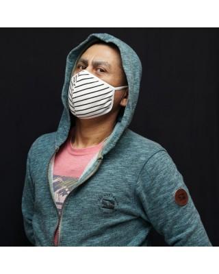Microfiber Reusable face mask, washable with lycra elastics