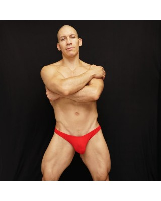 microfiber men bikini brief red color