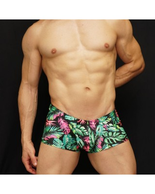 men boxer branches and leaves design