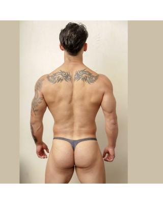 men bulge thong soft light grey