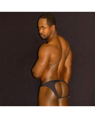 backless butt bikini black color