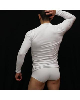 Spandex Tight Long-Sleeve Shirt high neck