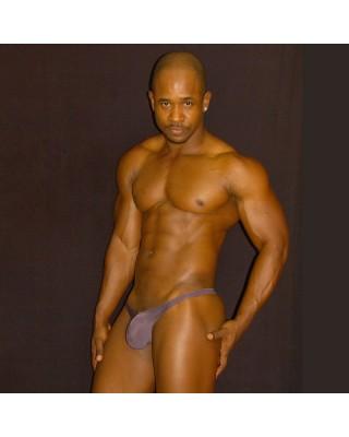 men lingerie thong brown color